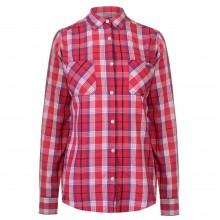 Lee Cooper Long Sleeve Check Shirt Ladies