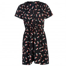 Miso Print Wrap Dress Ladies