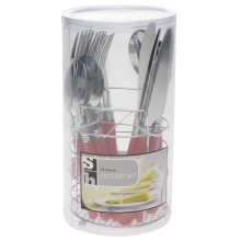 Stanford Home 24 Piece Cutlery Set With Caddy