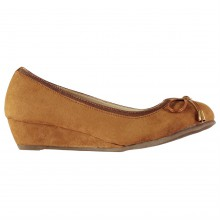 Full Circle Bow Wedge Ladies Shoes