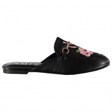 Miso Embroidered City Ladies Mule Shoes