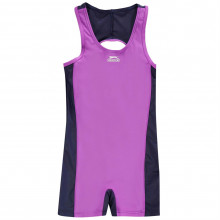 Slazenger Boyleg Swimming Suit Junior Girls