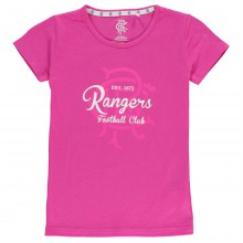 Team Rangers Crest Print T Shirt Junior Girls
