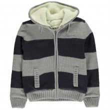 SoulCal Stripe Knitted Jacket Junior Boys