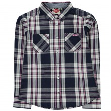 Lee Cooper Check Shirt Girls