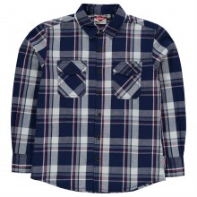 Lee Cooper Long Sleeve Check Shirt Junior Boys