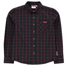 Lee Cooper Long Sleeve Fashion Check Shirt Junior Boys