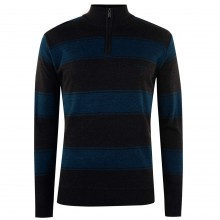 Pierre Cardin Quarter Zip Knit Jumper Mens