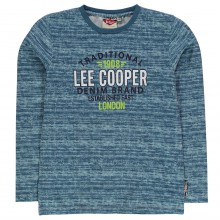 Lee Cooper Boys Long Sleeve Tshirt