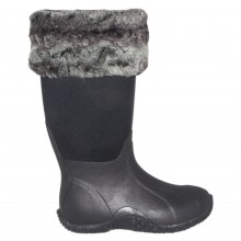 Requisite Slate Faux Fur Boot Toppers One Size