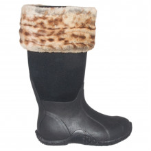 Резиновые сапоги Requisite Desert Leopard Faux Fur Boot Toppers One Size