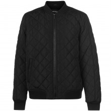 Firetrap Quilted Bomber Jacket Mens