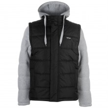 Lee Cooper Mixed Fabric Padded Jacket