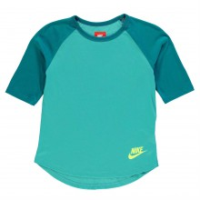 Nike Three Quarter Sleeves T Shirt Junior Girls