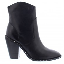Bronx Leather Studded Ankle Boots
