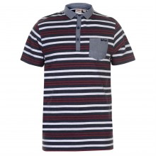 Lee Cooper C Stripe Polo Snr83