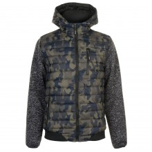 Lee Cooper Padded Camo Jacket Mens