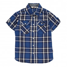 Lee Cooper Short Sleeve Check Shirt Junior