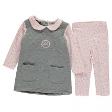 Lee Cooper 3 Piece Quilted Set Baby Girls