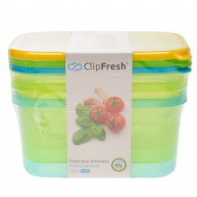 Clip Fresh Fresh 3 Pack 1.7L Food Containers