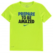 Nike Dry Amazed Crew T Shirt Junior Boys