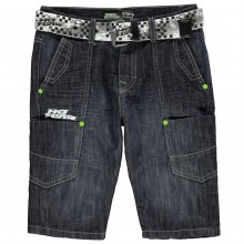 No Fear Belted Shorts Junior Boys
