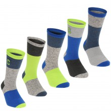 Crafted Essentials 5 Pack Nepped Socks Child Boys