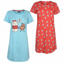 Miso 2 Pack Night Dresses Ladies