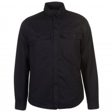 Pierre Cardin Button Shacket Mens
