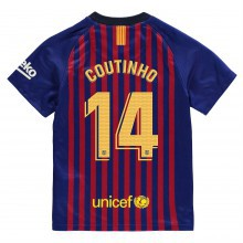Nike Barcelona Philippe Coutinho Home Shirt 2018 2019 Junior