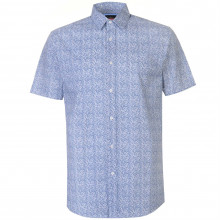 Pierre Cardin Ditsy Short Sleeve Shirt Mens