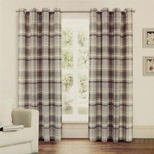 Linens and Lace Flannel Check Curtains