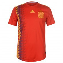 adidas Spain Home Authentic Shirt 2018