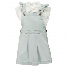 Crafted Dungaree Set Infant Girls