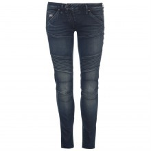 G Star 5620 Mid Waist Panel Skinny Jeans Ladies