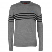 Pierre Cardin Striped Chest Crew Knit Mens