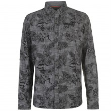 SoulCal Long Sleeve AOP Shirt Mens