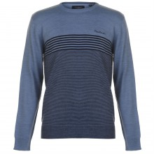 Pierre Cardin Engineered Striped Crew Knit Mens