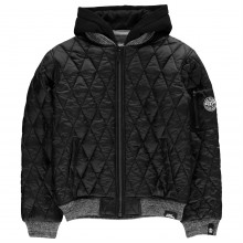 No Fear Quilt Bomber Jacket Junior Boys