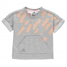 adidas Cotton Cover Up T Shirt Child Girls