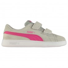 Puma Smash Suede Infant Girls Trainers
