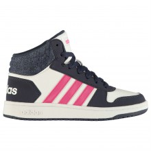 adidas Hoops Mid Top Childrens Trainers