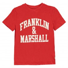 Franklin and Marshall Classic Fit Logo T Shirt