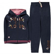 Crafted Ribbed Joggers Set Infant Girls