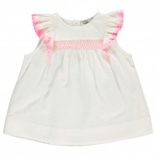 Crafted Ruffle Sleeve Top Infant Girls