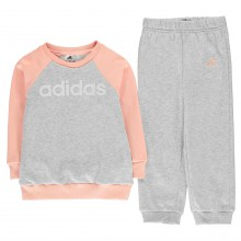 adidas Linear Tracksuit Infant Girls