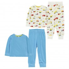 Crafted Essentials 2 Pack Design Pyjamas Infants