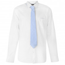 Pierre Cardin Long Sleeve Shirt Tie Set Mens