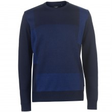 Pierre Cardin Block Crew Knit Mens