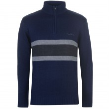 Мужской свитер Pierre Cardin Quarter Zip Striped Knit Mens